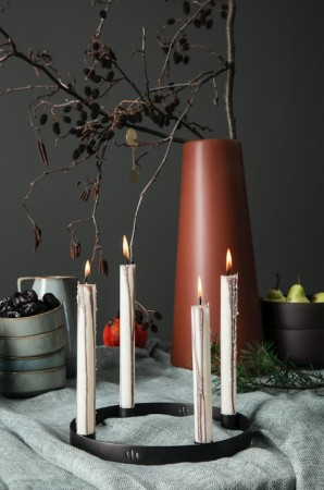 Ferm Living Candle Holder Circle - Svart