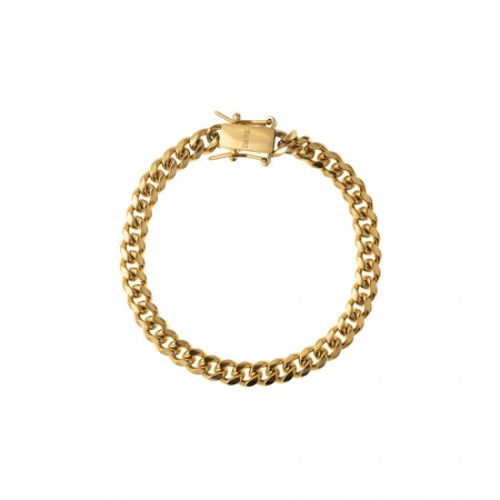 DARK CUBAN CHAIN BRACELET THIN GOLD